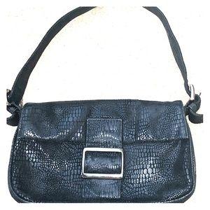 Bebe Black Leather Shoulder Bag